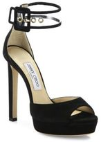 Jimmy Choo Mayner Suede & PVC Ankle-Strap Sandals