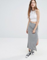 Noisy May Ankle Length Skirt with Side Zip