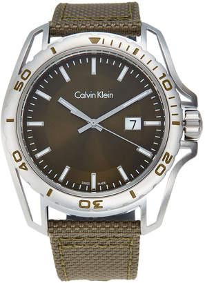 Calvin Klein K5Y31XWL Silver-Tone & Green Watch