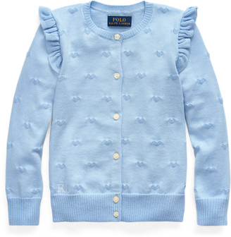Ralph Lauren Heart-Knit Cotton Cardigan
