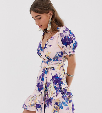 Sisters Of The Tribe Petite wrap dress in floral