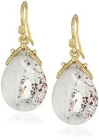 Gabrielle Sanchez Faceted Lepediachrosite Drop with Medium Double Seed Earrings