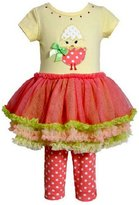 Bonnie Jean Girls Easter Egg Mesh Dress Outfit w/ Leggings