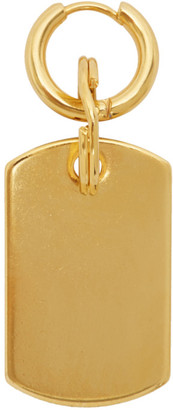 Martine Ali SSENSE Exclusive Gold Single Dog Tag Earring