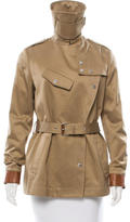 Belstaff Belted Leather-Trimmed Coat w/ Tags