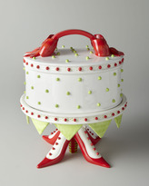Patience Brewster Gift-Wrapped Dome & High-Heeled Shoe Cake Plate