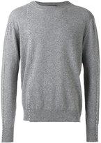 Raf Simons round neck stitch sweater - men - Wool - XS