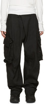 Julius Black Gas Mask Cargo Pants