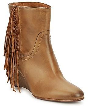 JFK ALEX HI women's Low Ankle Boots in Brown