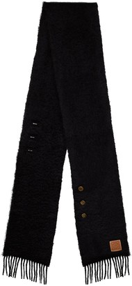 Loewe Button-Detailed Mohair-Blend Scarf
