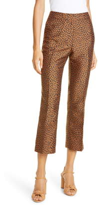 Kate Spade New York Flora Leopard Jacquard Crop Trousers