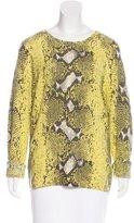 Equipment Cashmere Snakeskin Print Sweater