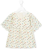 Chloé Kids printed flared blouse