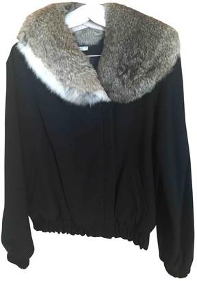 Les Prairies de Paris Black Leather Jacket for Women