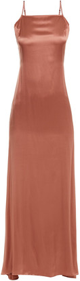 Reformation Rosie Silk-satin Maxi Dress