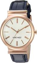 Nine West Women's Quartz Metal and Polyurethane Dress Watch, Color:Blue (Model: NW/1948RGBL)