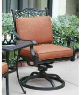 Fairmont Swivel Patio Dining Chair with Cushion Astoria Grand Fabric: Spicy Chili