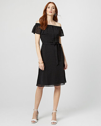 Le Château Polka Dot Off-the-Shoulder Dress