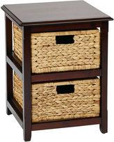 Asstd National Brand Seabrook 2-Tier Storage Unit With Natural Baskets