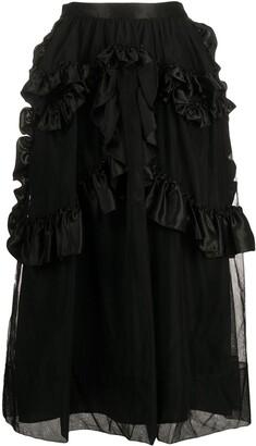 Simone Rocha Ruffled Mesh Skirt