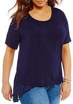 Peter Nygard Plus Embroidered Tunic