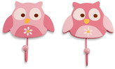 NoJo Owls 2-Pack Decorative Wall Hooks