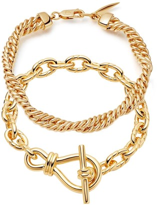 Missoma Twisted Link T-Bar Chain Bracelet Set