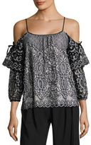Parker Nikita Cold-Shoulder Lace Blouse