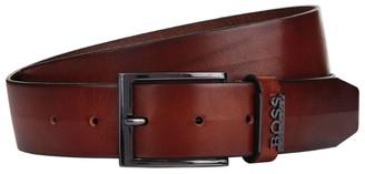 HUGO BOSS Leather Logo Trim Belt