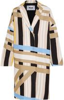 MSGM Printed Crepe Coat - Off-white