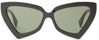 Le Specs Rinky Dink Oversized Cat-eye Sunglasses - Black