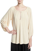 Rachel Pally Kristine 3/4-Sleeve Keyhole-Front Top, Plus Size