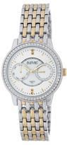August Steiner Women's Diamond Dial Crystal Bezel Date Bracelet Watch