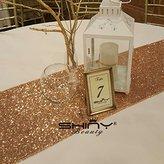 "14""x108"" (35cmx270cm) Rose Gold Sequin Table Runner on Sale"