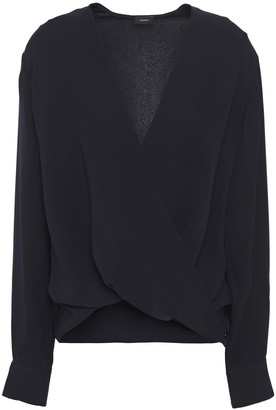 Joseph Wrap-effect Draped Silk-crepe Blouse