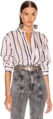 Etoile Isabel Marant Yvana Shirt in Light Pink | FWRD