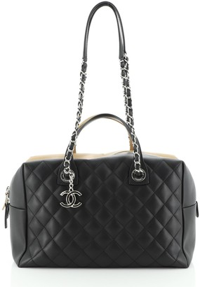 Chanel Feather Weight Bowling Bag Quilted Lambskin Medium