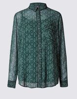 Marks and Spencer Geometric Print Long Sleeve Blouse