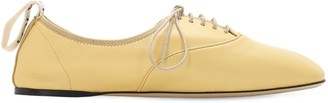 Loewe 10mm Soft Leather Lace-Up Derby Flats