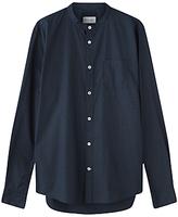 Jigsaw Micro Dot Grandad Slim Shirt, Navy