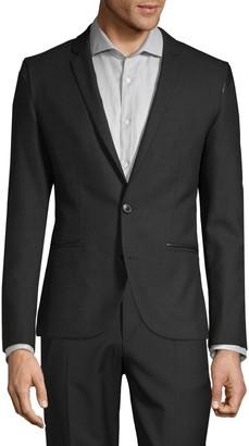 HUGO BOSS Red Regular-Fit Adgert Faux-Leather Trimmed Jacket