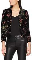 New Look Women's Harper Embellished Velvet Suit Jacket,6