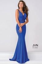 Jovani V Neck Jersey open back Prom Dress JVN41678