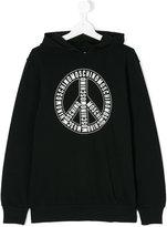 Moschino Kids teen logo print hoodie