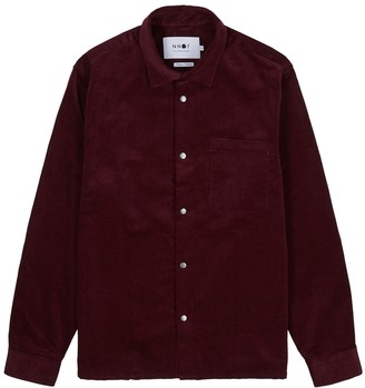 NN07 Basso burgundy cord cotton shirt