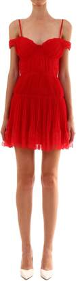 Self-Portrait Self Portrait Pleated Chiffon Mini Dress