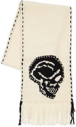 Alexander McQueen Skull Intarsia Wool Scarf