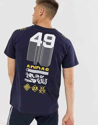 adidas Training GRFX graphic t-shirt in navy