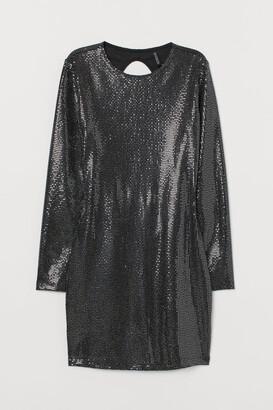 H&M Shimmering bodycon dress