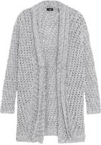 Line Open-knit cotton-blend cardigan